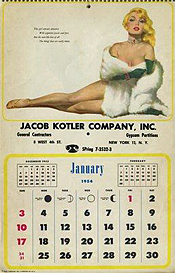 image of an old-fashion pinup calendar